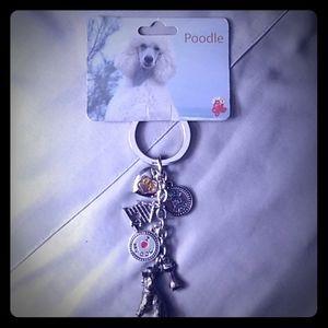 Poodle Charm Key Chain NWT